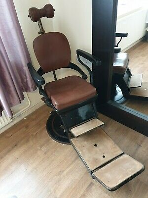 Vintage 1920s Dentist Chair ideal for Barbers -Tattoo -Film Prop fetish ?