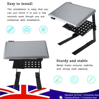 Portable Adjustable Floding DJ Laptop Computer Stand Support Holder W/ Tray