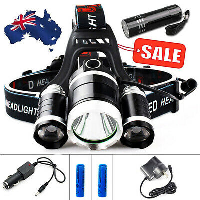 2019 Rechargeable 60000Lm Cree 3T6 Xm-L Led Headlamp Headlight Head Torch New