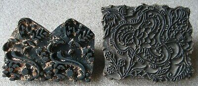 Antique Hand Carved Wooden Batik Textile or Fabric Printing Block Stamps