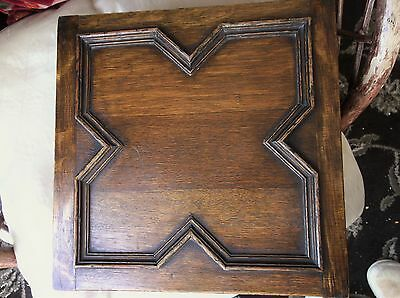 Antique Oak Bible Correspondence Wooden Box Hinged Lid Large Size Superb Grain