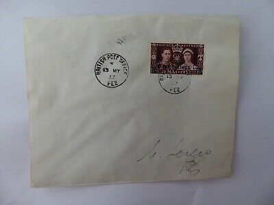 Morocco Agencies 1937 Coronation first day cover Fez cancel