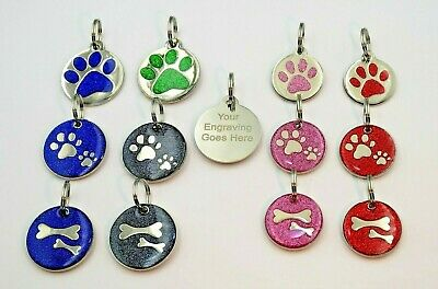 Pet ID Tags Personalised Engraved Name Address Identity Tag Disc For Dog or Cat