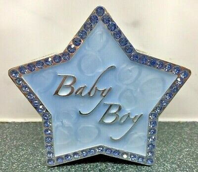 Boy Money Box Christening Gift Impressions Juliana Sliverplated Blue Star