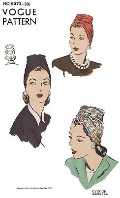 Pictorial Review 8283 Unique Hat Cap Fabric Sewing Pattern Chemo Cancer Alopecia
