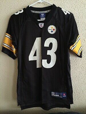 e0969d3c1 REEBOK PITTSBURGH STEELERS TROY POLAMALU JERSEY Youth NFL Large 14-16 RARE