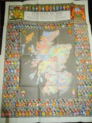 Scotland of old clan names map