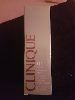 Clinique SELF SUN Face Tinted Lotion Full Size 50ml OIL FREE Cream - Gel NEW