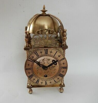 """Superb """"Empire"""" English Brass Case  8 Day Mantel Clock. Fully working 2954"""