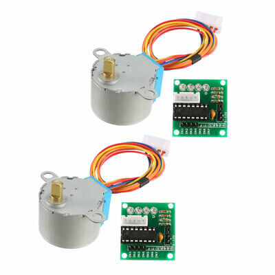 2PCS DC 5V Micro Stepper Motor 28BYJ-48 With 5V ULN2003 Drive Test Module Board
