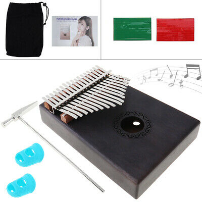 Mini Piano Mbira 17 Keys Kalimba Single Board Mahogany Thumb Keyboard Instrument