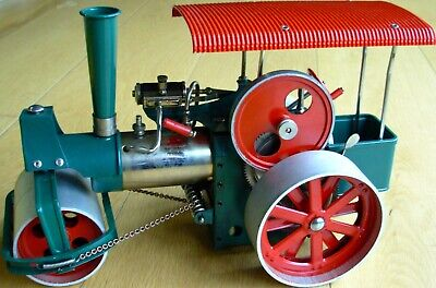 Vintage Wilesco D36 Old Smokey Live Steam Roller Engine in Original Box