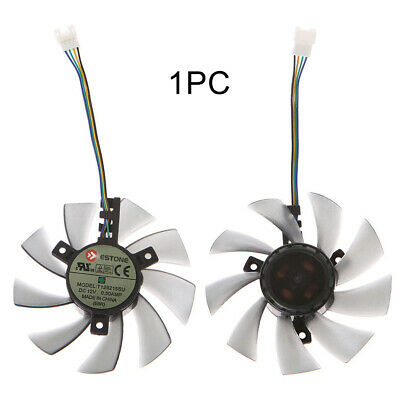 T128010SM Graphics Card ABS 12V Durable 2 Pin Cooling Fan For Gigabyte GTX460