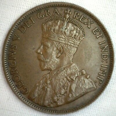 1918 Copper Canadian Large Cent Coin 1-Cent Canada BN #6