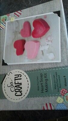 So Crafty Heart Soap Making Kit Rose Scented. Brand new Boxed