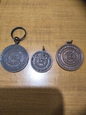 Rare! Old! Australia Lifesaving Swimming Bronze Medallions 1950, 54 And 61 Trio!
