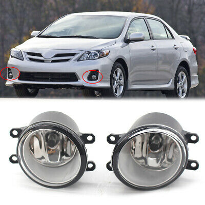 Pair of Fog Light Lamp Left Right RH LH Side Fit For Toyota Camry Yaris Lexus CZ