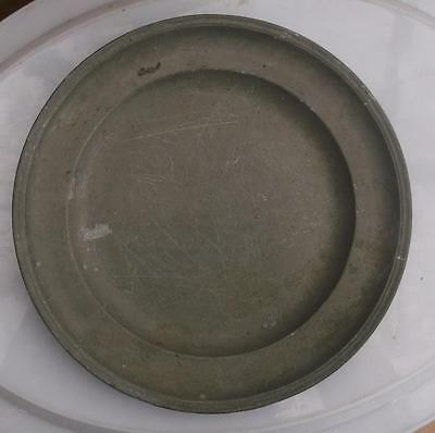Old French Pewter Plate #CH3