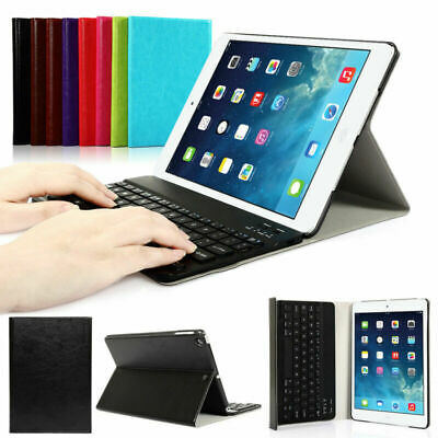 "US For iPad 2018 9.7"" 6th Gen Wireless Bluetooth Keyboard with Stand Case Cover"