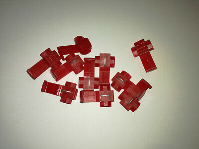 Scotch Type Clips.red X 10 Terminal Connectors