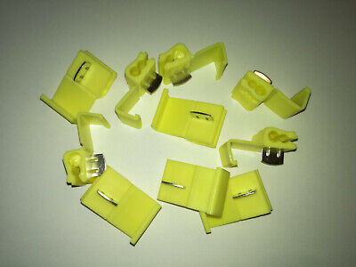 Scotch Type Clips.yellow X 10 Terminal Connectors
