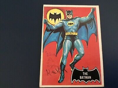 Television Memorabilia 1966 Batman The Batman Card #1 Grade Psa 3 #25463766 Non-sport Trading Cards