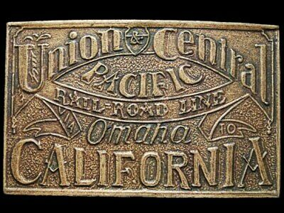 IK27135 *NOS* VINTAGE 1970s **UNION & CENTRAL PACIFIC RAILROAD** BELT BUCKLE