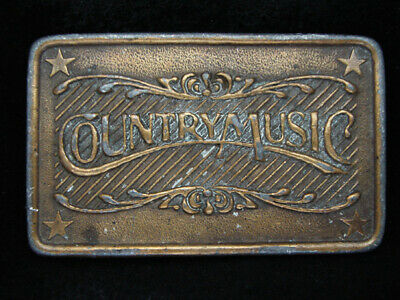 PE07129 VINTAGE 1970s **COUNTRY MUSIC** COMMEMORATIVE BRASSTONE BELT BUCKLE