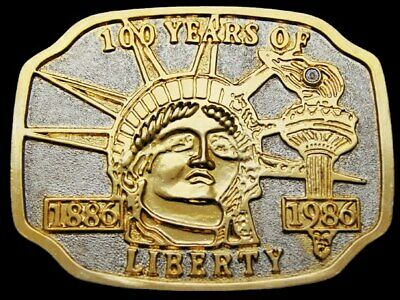 Il23104 Vintage 1986 **Statue Of Liberty** 100 Year Commemorative Belt Buckle