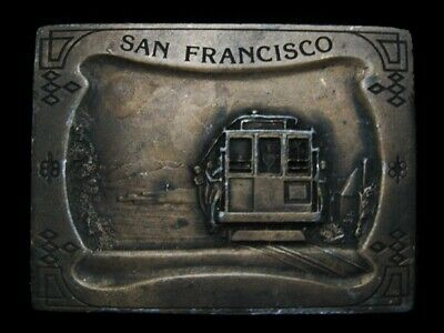 Nc27120 Vintage 1977 **San Francisco** (Cable Car) Souvenir Belt Buckle