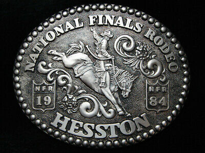 Pg01133 Great Nfr ***1984 National Finals Rodeo*** Hesston Collector Buckle