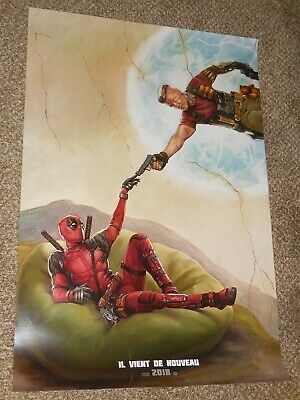 "Deadpool 2 ""FRENCH VER A"" vg 27x40 Original D/S Movie Poster"