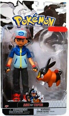 82d4a178 Pokemon Black & White Trainer Figures Ash with Tepig Exclusive Action Figure