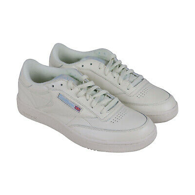 423624dbcb469 Reebok Club C 85 Mu Mens White Leather Low Top Lace Up Sneakers Shoes 11.5