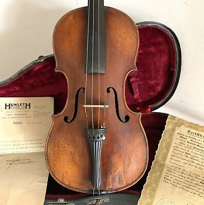 Antique Violin 1926 French import Papers stating Louis Guersan as-found estate