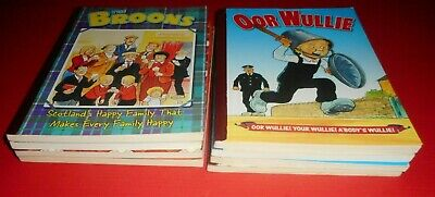 Lot Of 8 Oor Wullie And Broons ,