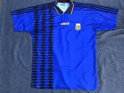 472d555e5 Adidas Replica WORLD CUP 1994 Jersey Argentina Vintage Argentina Jersey  Collared