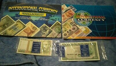 Rare! Complete 30 Unc Notes International Currency Banknote Collection Folders!