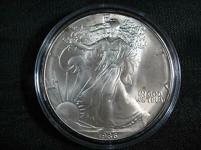 1986 ~ KEY DATE ~ 1 oz. Silver American Eagle w/Airtite from Mint Roll! See Pics