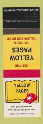 MATCHBOOK COVER THE Yellow Pages - $2 25 | PicClick
