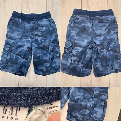 9cca37fe9b GAP KIDS BOYS Blue Camo Pull-On Cargo Shorts Size Medium (8) Regular ...