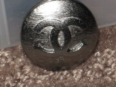Chanel  1 Cc Logo Front Auth Dark Silver  Buttons  18  Mm / 3/4'' New