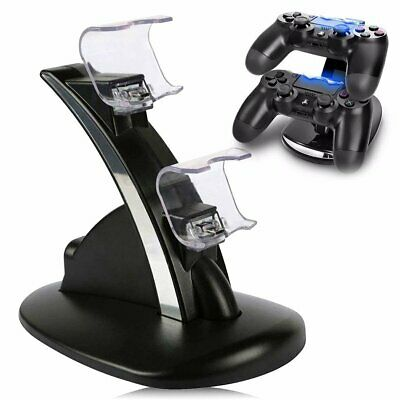 PS4 Controller Fast Charging Station Stand Dock Dualshock USB Cable Charger Base