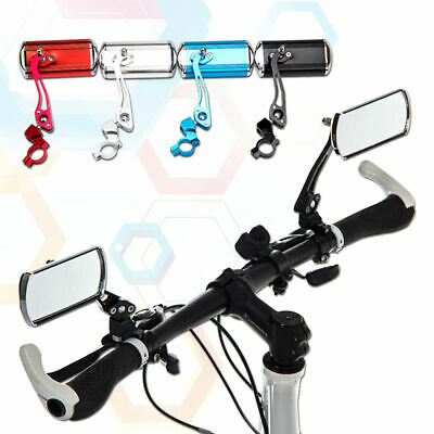 Bicycle Bike Aluminum Handlebar End Rear Back View Glass Mirror Safe Rearview US
