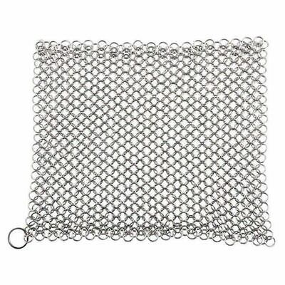 Ghisa Cleaner - Acciaio inossidabile 316 Chainmail Scrubber, pollice 8 x 6 S1X5