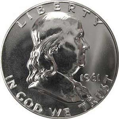 1961 Pr Pf Franklin Half Dollar Proof Gem Bu Uncirculated Silver Coin Mint State