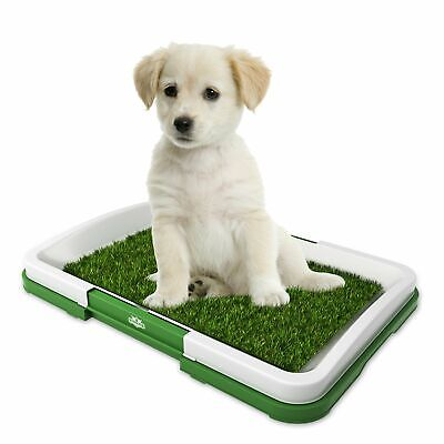 Paw Indoor Puppy Potty Trainer Pets Grass Dog Mat Patch Pee Pad Antimicrobial