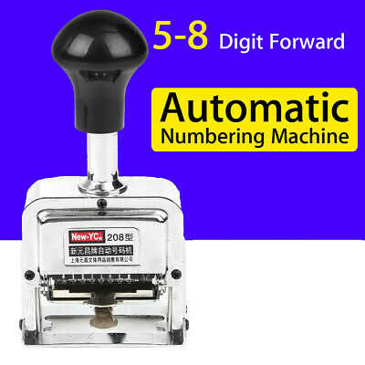 5-8 Digit Wheels Self Inking Roll Stamp Automatic Letterpress Numbering Machine