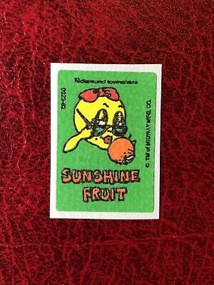 Vintage Ms Pac-Man 80s Scratch And Sniff Sticker- Orange- Great Scent!!