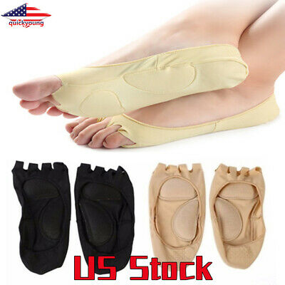 NEW Gift Cotton Elastic Invisible Liner Peds Low Cut Peep Toes Open Toe Socks GW